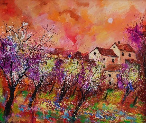 """Pol Ledent - Belgian artist (""""Blooming Trees"""")"""